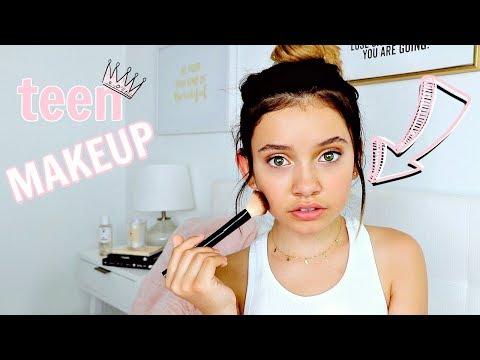 back to school natural teen makeup tutorial *glowup