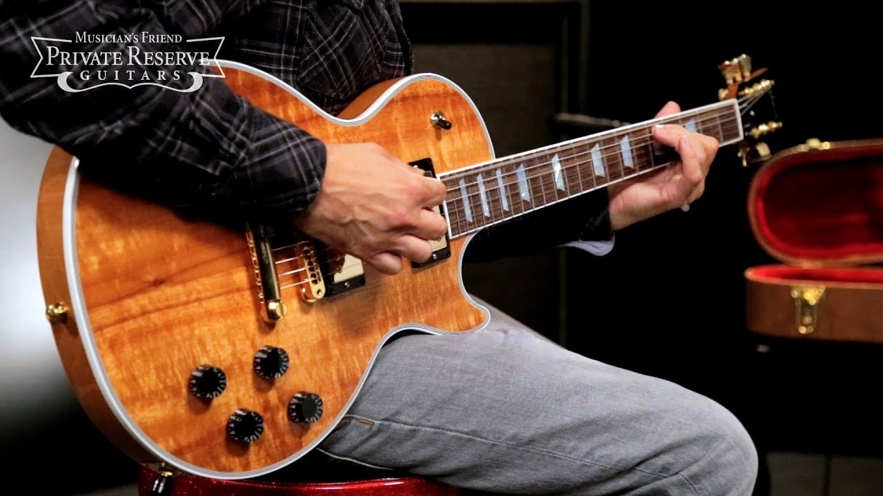 gibson les paul koa electric guitar youtube. Black Bedroom Furniture Sets. Home Design Ideas