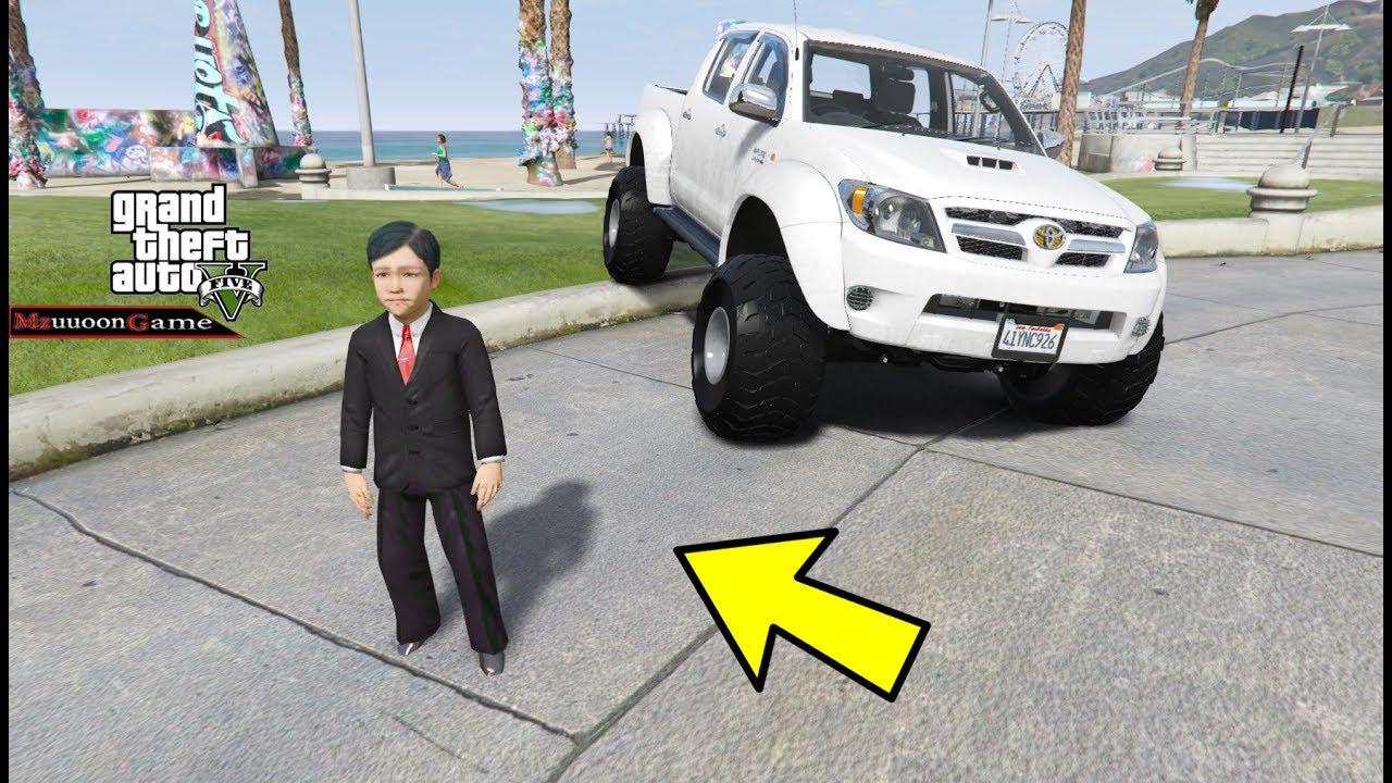 الطفل يركب اكبر سيارة  #32 || GTA V