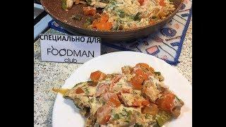 Овощной омлет с куриной грудкой: рецепт от Foodman.club