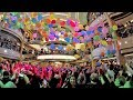 Balloon Drop Party on Princess Cruises Majestic Princess (4K)