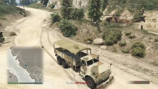 Grand Theft Auto V Pacific Standard Heist Convoy Helicopter WIN