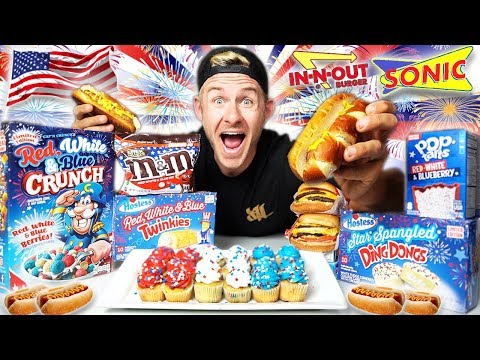THE ALL AMERICAN 4TH OF JULY FOOD CHALLENGE! (10,000+ CALORIES)