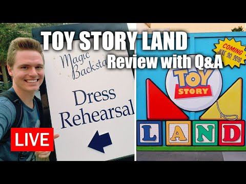 Live: Toy Story Land Review with Q&A | Walt Disney World