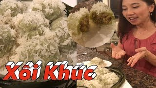😀Hướng Dẫn Cách làm Xôi Khúc - DIY Vietnamese Sticky Rice Cake.