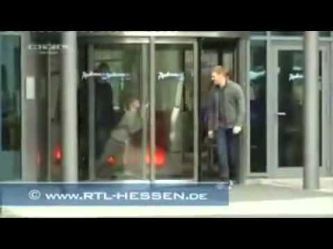 Funny People Walking Through The Glass Youtube