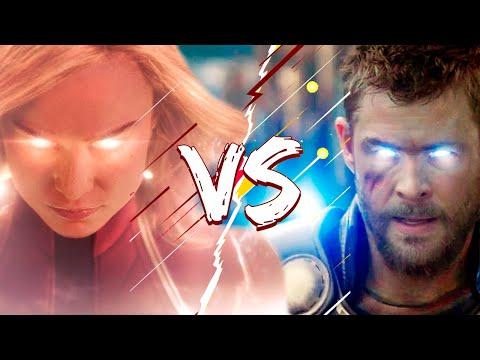 Тор против Капитана Марвел! Кто оказался сильнейшим после Мстители Финал?