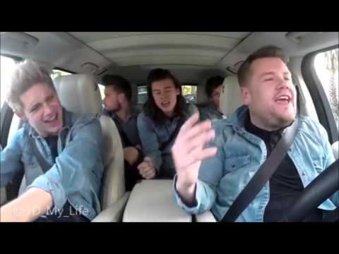 One Direction - No Control ( Carpool Karaoke with James Corden)