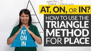 AT, ON, or IN? The Triangle Method for Prepositions of Place