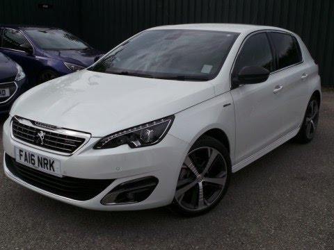 2016 16 peugeot 308 1 6 bluehdi 120 gt line 5dr in pearl white coming soon youtube. Black Bedroom Furniture Sets. Home Design Ideas