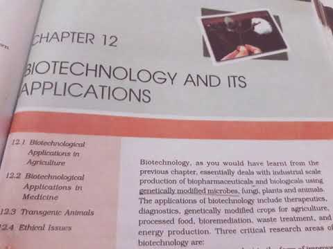 Chapter 12 Biotechnology and its applications class 12th ( NCERT READING )