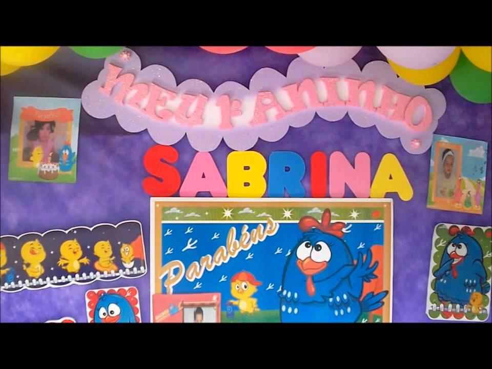 DECORA u00c7ÃO DA GALINHA PINTADINHA, IDEIAS ECONOMICA YouTube # Decoração Festa Infantil Galinha Pintadinha Simples