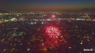 INSANE Fireworks over Los Angeles - Drone Footage 2020
