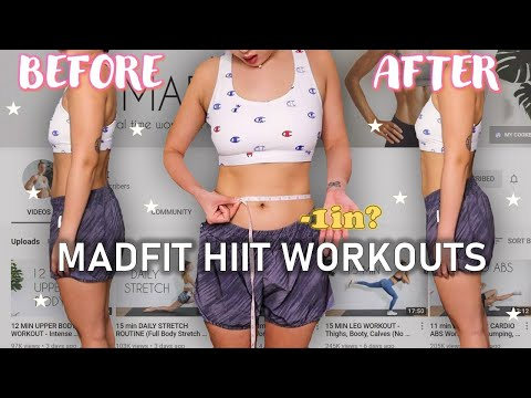 I did MADFIT HIIT WORKOUTS FOR A WEEK!!! (RESULTS w/ full body measurements & REVIEW)