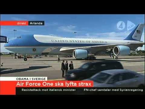 Download Air Force One startar från Arlanda. Air Force One take off from Arlanda Sweden.
