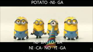 Minions BANANA POTATO Lyrics Despicable Me 2 Mi Villano Favorito 2  2