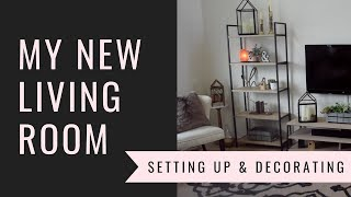 DECORATE AND SET UP MY NEW LIVING ROOM || Motivation and Inspiration