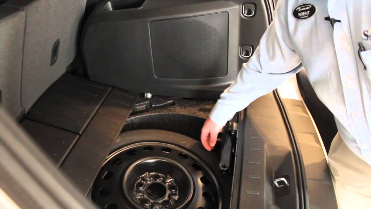 Removing the spare tire from your Chevy Equinox - YouTube