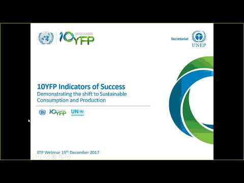 10YFP Indicators of Success & Reporting for Sustainable Tourism Programme
