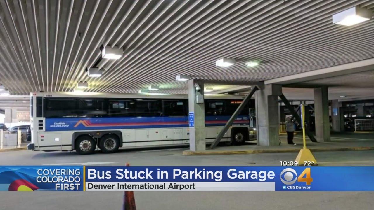 bus gets stuck in dia parking garage youtube. Black Bedroom Furniture Sets. Home Design Ideas
