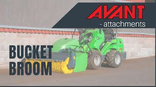 Bucket broom, Avant 300-700 Series attachment Thumbnail