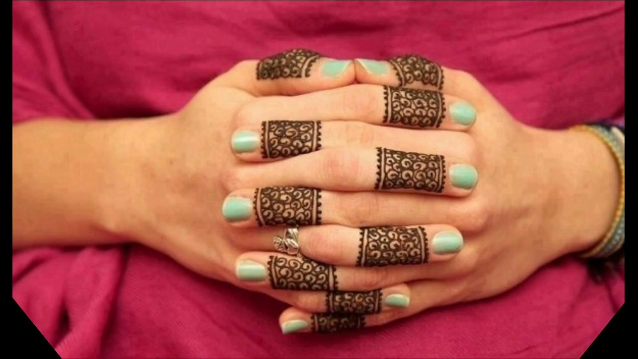 13 Unique Henna Designs Doing The Rounds This Wessing: Unique Finger Extension Henna Design