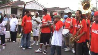 Rebirth Brass Band playing 'A.P. Tureaud' at the Pigeon Town Steppers 2009 Second line parade