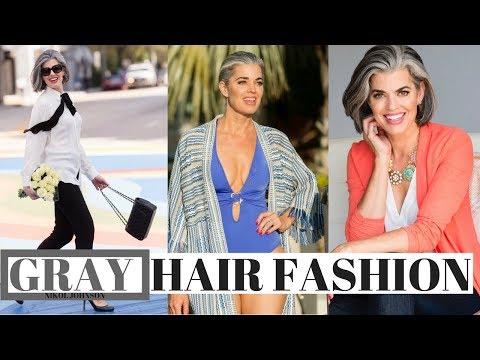 GRAY HAIR FASHION | WHAT COLORS TO WEAR | Nikol Johnson
