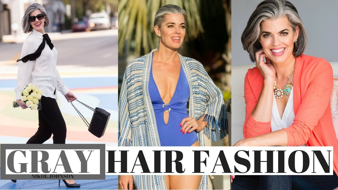 Gray Hair Fashion What Colors To Wear