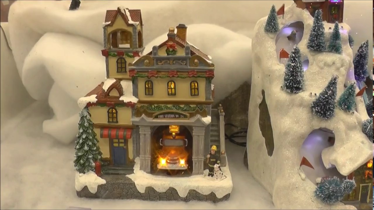 Christmas Display at Lowes Christmas Village - YouTube