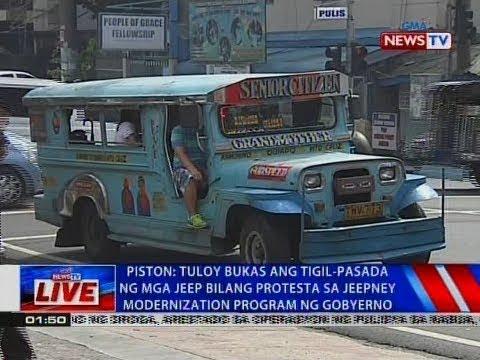Tuloy bukas ang tigil-pasada ng mga jeep bilang protesta sa jeep modernization program ng gobyerno