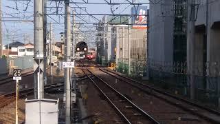 [6804+6832] 6800系鉄仮面+金魚鉢(尾西ワンマン)!普通 東岡崎行き 知立到着