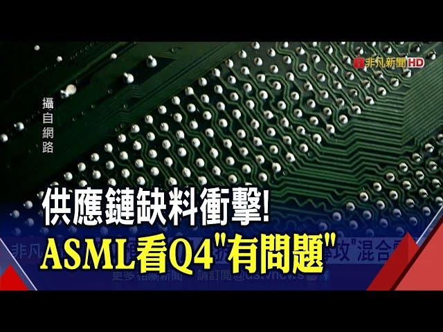 ASML第3季純益讚!46%晶片設備銷往台灣 明年EUV曝光機年產55台|非凡財經新聞|20