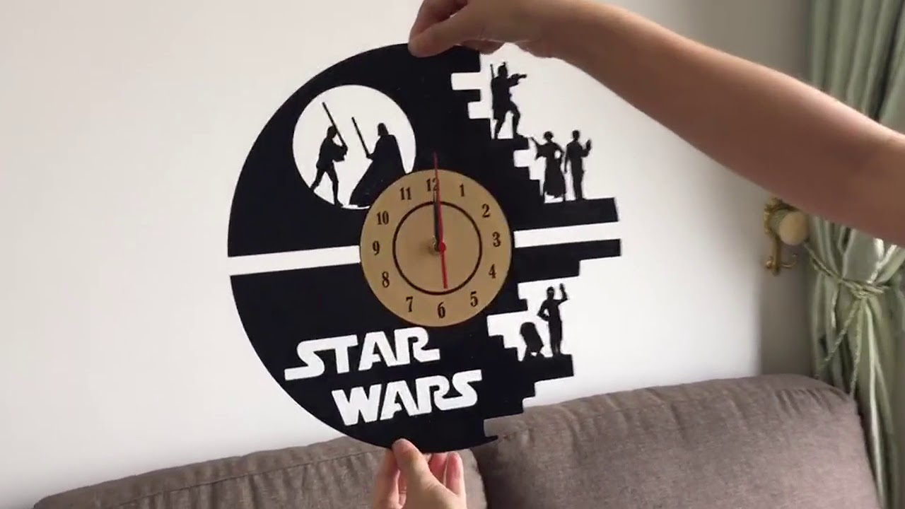 Vinilos Decorativos Star Wars Reloj Acetato Vinilo Decorativo Reloj De Pared Star Wars