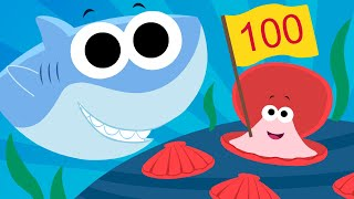 Let's Count To 100 | ft. Finny the Shark | Super Simple Songs