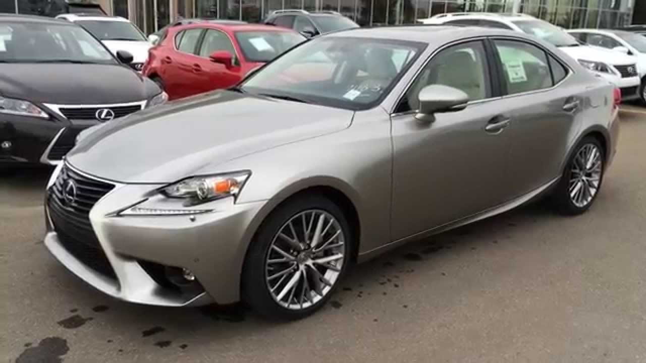 2015 lexus is 250 awd atomic silver on parchment luxury package review youtube. Black Bedroom Furniture Sets. Home Design Ideas