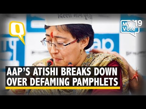 AAP Leader Atishi Breaks Down Over Defaming Pamphlets Distributed by the BJP