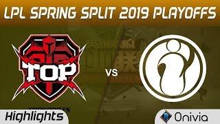 TOP vs IG Highlights Game 2 LPL Spring 2019 Playoffs TopSports Gaming vs Invictus Gaming LPL Highlig