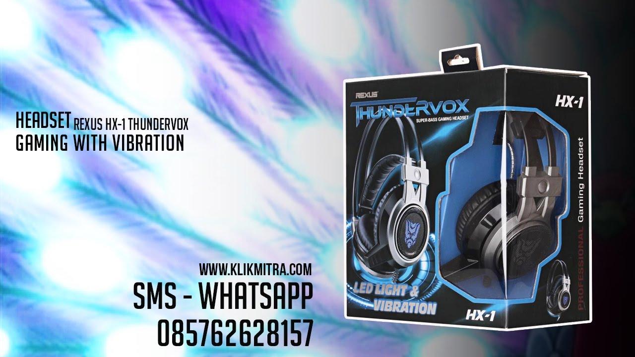 Headset Gaming Rexus Hx 1 Thundervox Super Bass Youtube Video Vonix F55