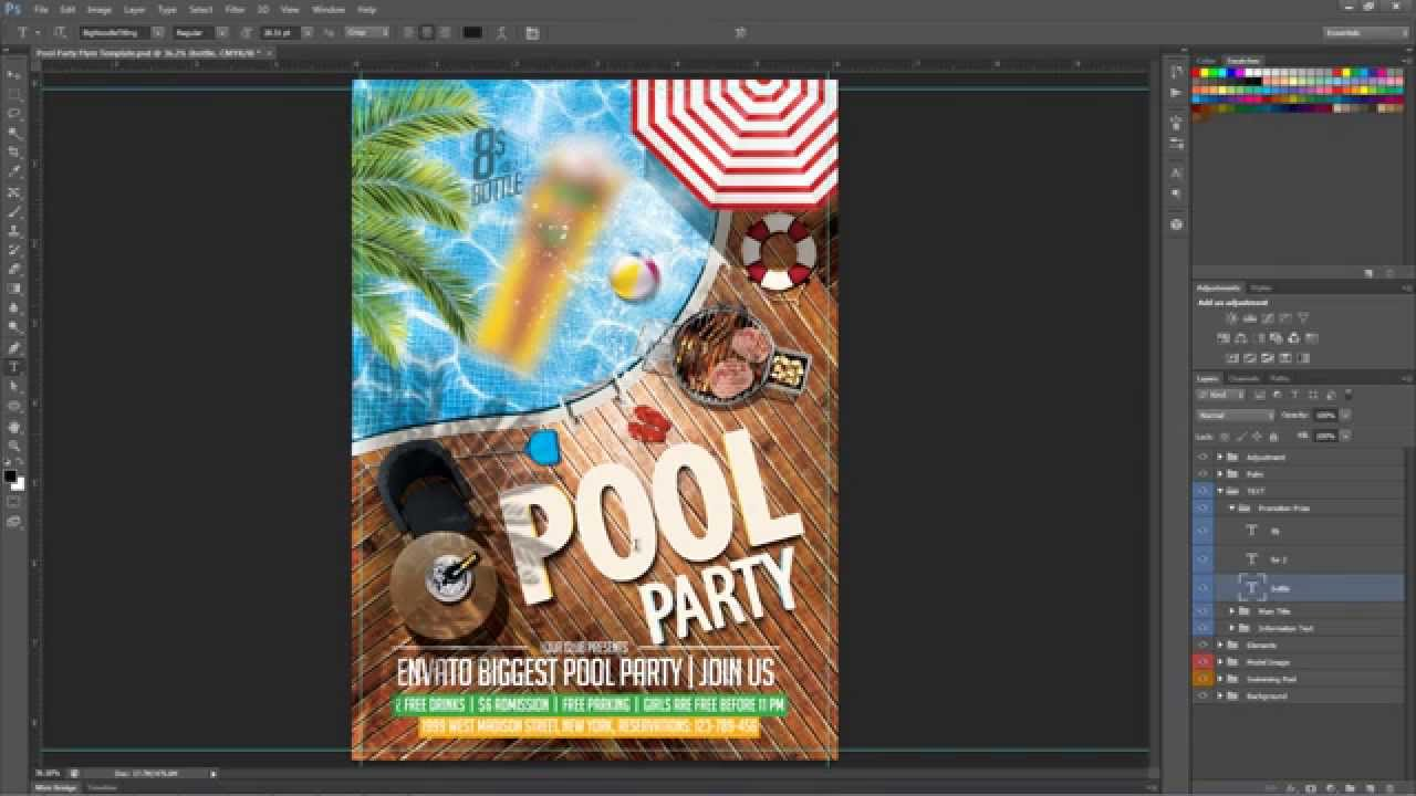 pool party flyers