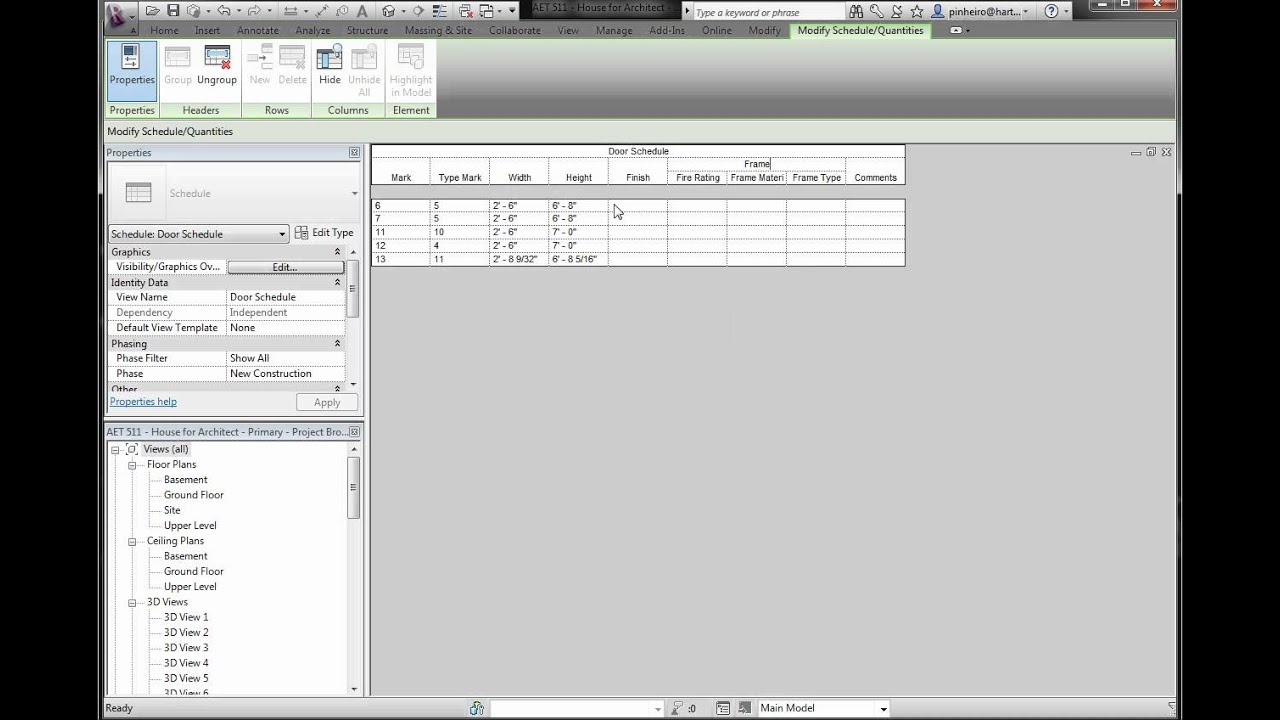 Revit Tutorial - Grouping Headers in Schedules - The Revit Kid
