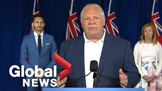 Coronavirus: Ontario Premier Ford announce $234.6M in new funding for child care | FULL
