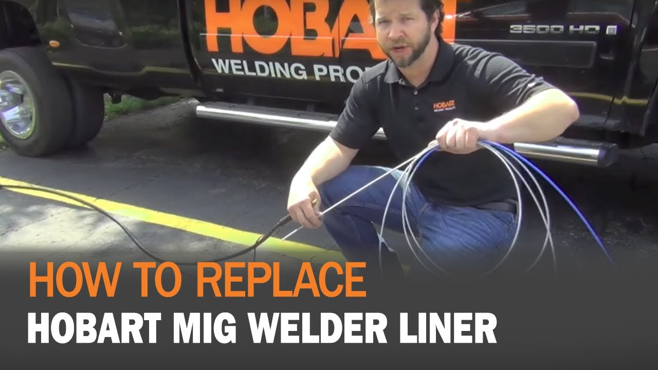 How To Replace A Hobart Mig Welder Liner Youtube Miller Wire Diagram Setup