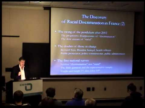 Annual Distinguished Lecture on Europe: The Denial of Racial Discrimination