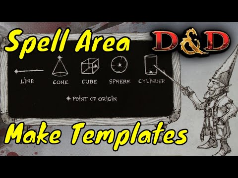 D&D (5e): Making Cheap Spell Area Templates