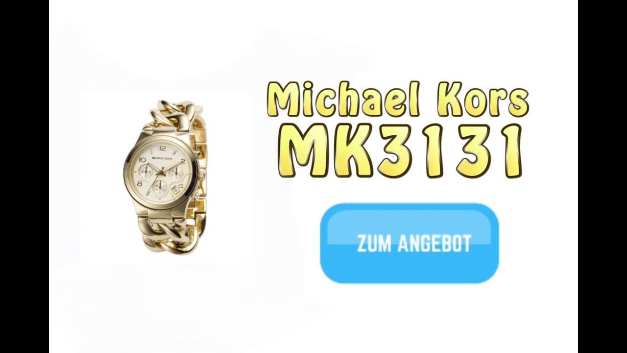 Michael Kors Mk3131 Damenuhr Gold Youtube