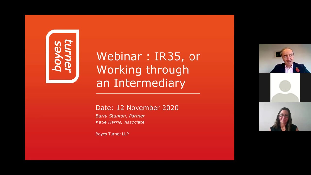 Employment Law Webinar: IR35 Discussion