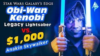Star Wars Galaxy's Edge: Obi-Wan Kenobi Legacy Lightsaber vs. $1,000 Anakin Skywalker   REVIEW