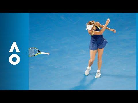 Caroline Wozniacki chucks her racquet | Australian Open 2018