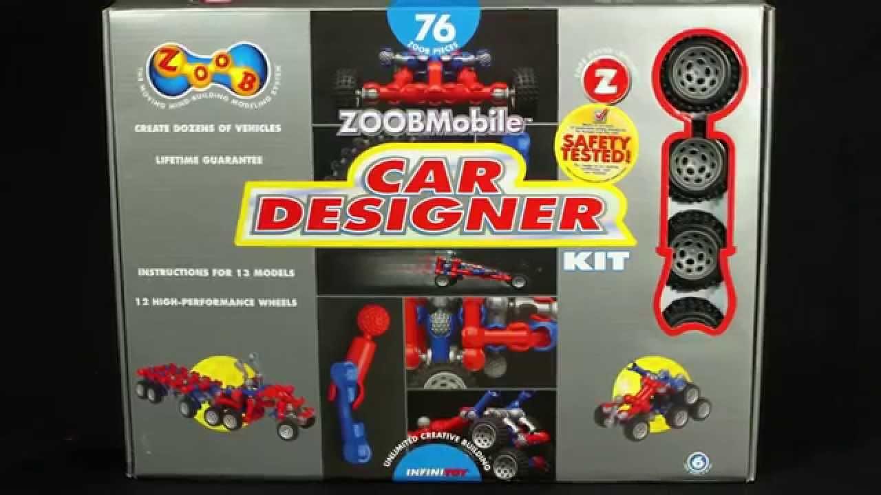 Zoobmobile Car Designer Kit 0z12052 Youtube